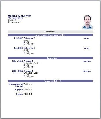 Gallery of French Cv Example - wholesalediningchairscom